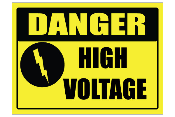 Printable High Voltage Signs