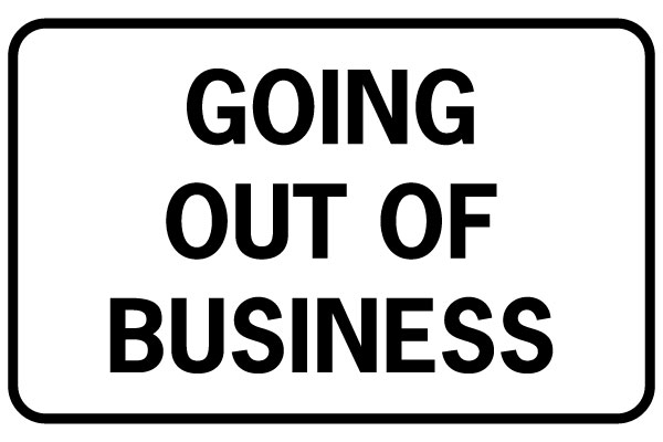 Printable Going Out of Business Signs