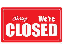 Printable Closed Sign Red