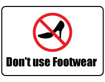 Printable Don't Use Footwear Sign