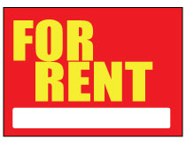 Printable For Rent Sign –  Red