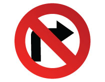 Printable No Right Turn Sign