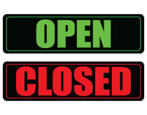 Printable Open and Close Sign