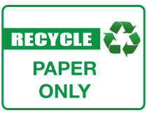 Printable Recycle Paper Sign