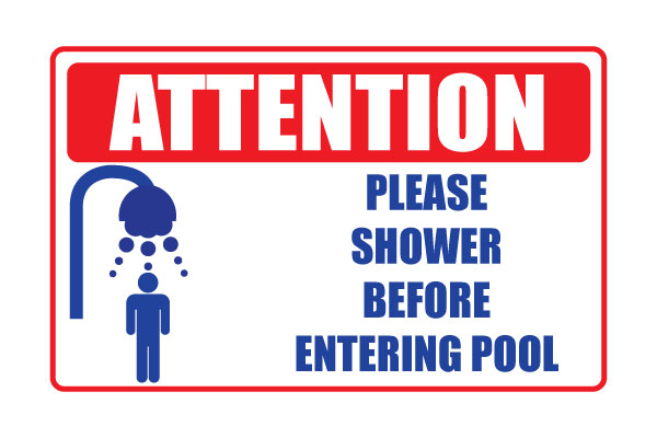 Printable Sign Please Shower Before Entering Pool