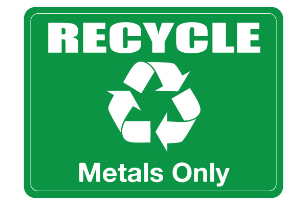 Printable Recycle Metals Sign
