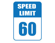 Printable Speed Limit 60 Sign