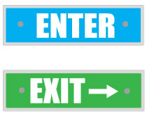 Printable Enter Sign and Exit Signs