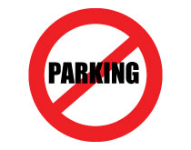Printable No Parking Sign Red