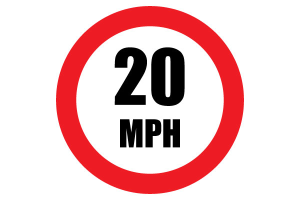 Printable Speed 20 Sign