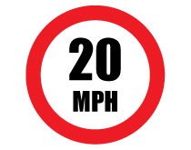 Printable 20 MPH Speed Limit Sign