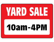 Printable Yard Sale Sign – 10am to 4pm