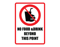 No Food Drink Beyond Point Icon Sign