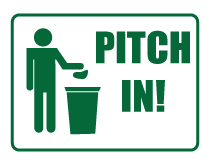 Pitch In Icon Sign