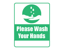 Wash Your Hands Sign Green