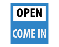 Printable Open Come In Sign