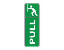 Pull Sign Green
