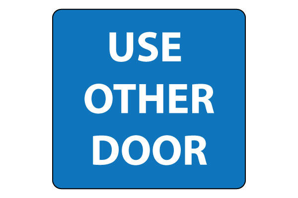 Use Other Door Sign